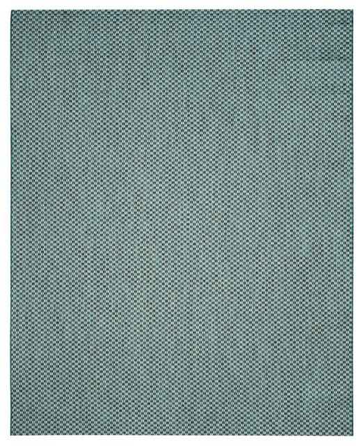 Morton Indoor/outdoor Rug, Turquoise/light Gray, 5&x27;3x7&x27;7.
