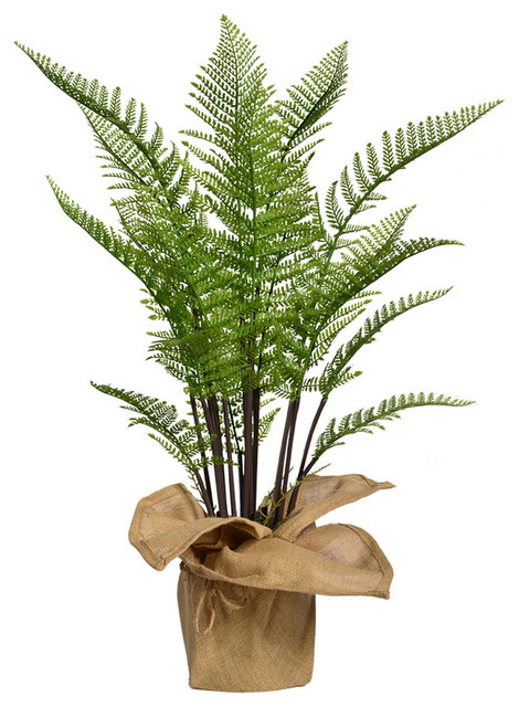 42 Tall Fern Plant Artificial Indoor Outdoor Faux Decor With
