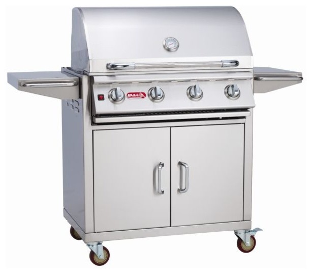 Lonestar Select 4-Burner Ss Liquid Propane  Gas Barbecue Grill And Cart.
