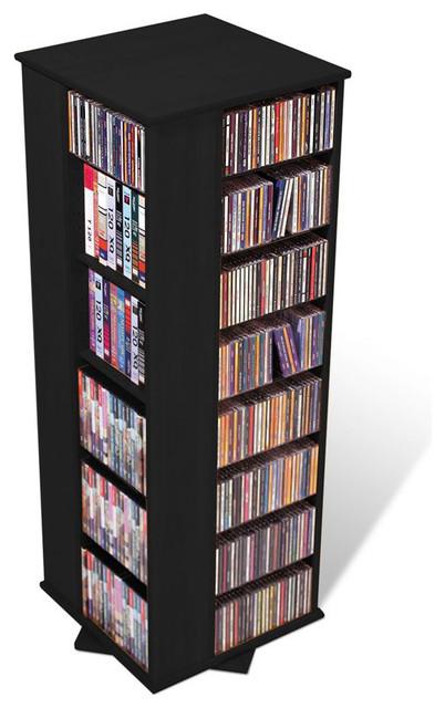 Prepac 4-Sided Spinning CD DVD Media Storage Tower in Black  sc 1 st  Houzz & Prepac 4-Sided Spinning CD DVD Media Storage Tower - Transitional ...