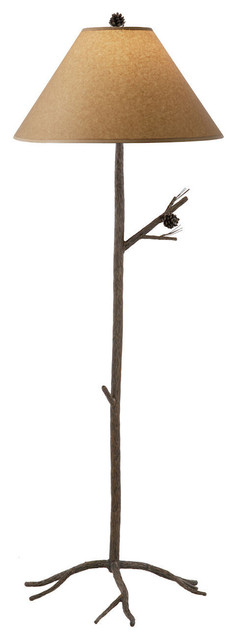 stone county pine iron floor lamp