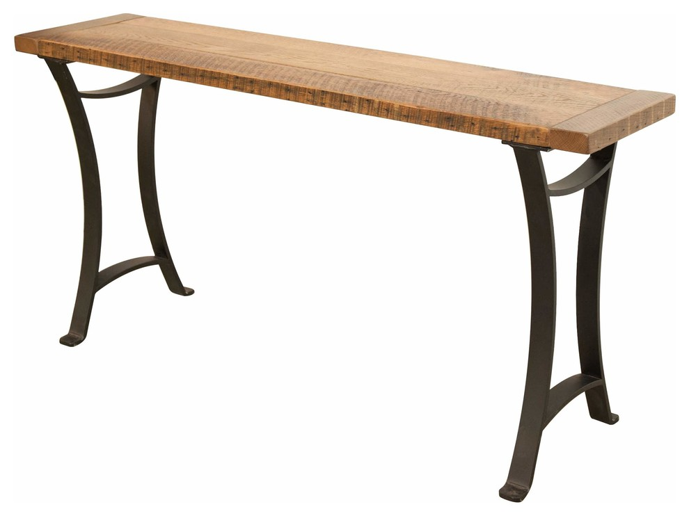 Norwood Sofa Table Bread Board Ends Metal Base Industrial Console Tables By Rustic Red Door Company