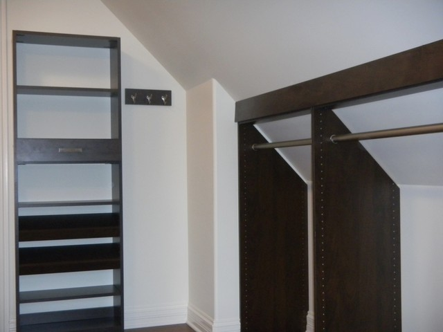 bathroom remodel ideas with inclined ceiling - Slanted Ceiling Contemporary Closet Chicago by