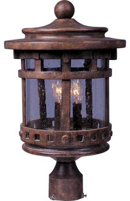 Santa Barbara VX 3-LightOutdoor Pole Lantern