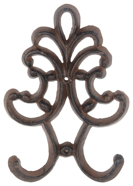 Nicholson Decorative Wall Hook, Rust Brown.