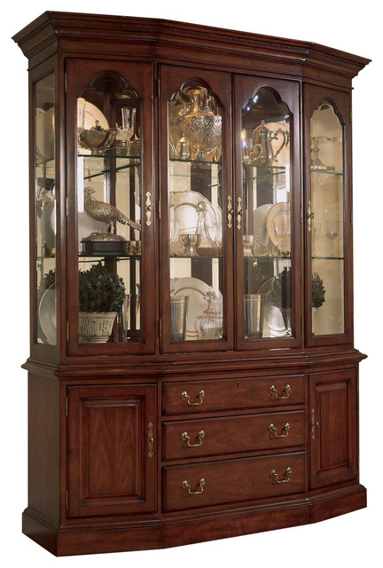Elegant American Drew Cherry Grove Canted China Cabinet   Traditional   China  Cabinets And Hutches   By Emma Mason