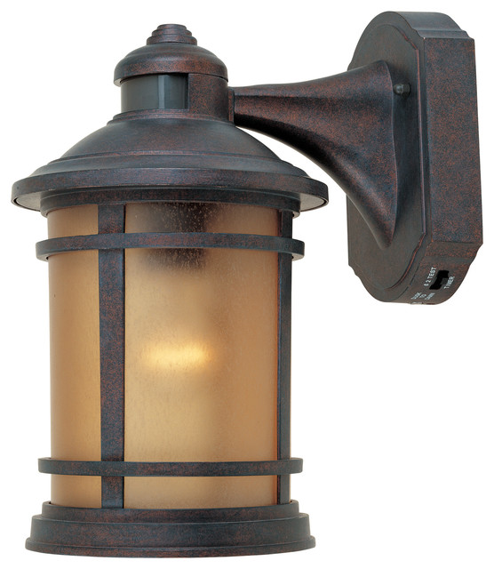 Shop Houzz We Got Lites Cast Aluminum Wall Lantern With Motion Detector And Photocell Modes