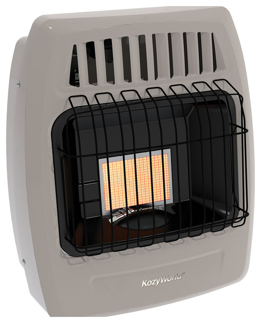 Kozy World Kwn209 6000 Btu 1 Plaque Natural Gas Infrared Vent Free Wall Heater.
