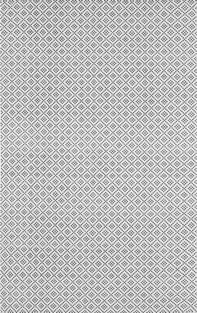 Chalet Diamonds Trellis Rug, Gray, 8&x27;x10&x27;.