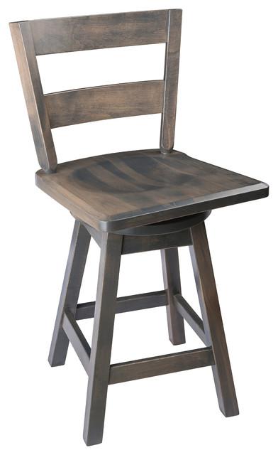 Swivel Bar Stool Maple Wood With