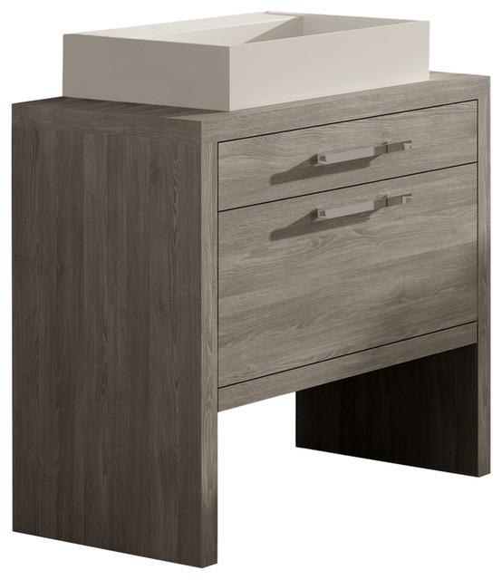 Bathroom Vanity Sinks montreal oak bathroom vanity and sink - modern - bathroom vanities