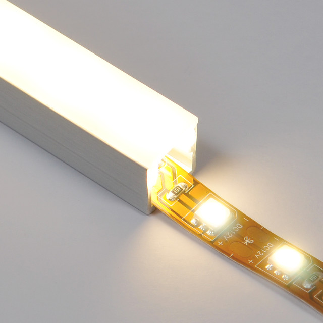 Track with Diffuser for LED strip lights - Undercabinet Lighting - by EnvironmentalLights.com