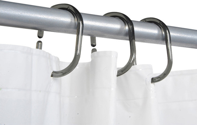 Shower Curtain Rings Plastic Hooks Solid And Clear Set Of 12 Contemporary Shower Curtain