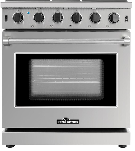 30 Stainless Steel Gas Range Oven With 5 Burner Thor Kitchen Lrg3001u