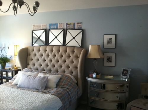 master bedroom mismatched nightstands, artwork issues, flooring? Master Bedroom Nightstands