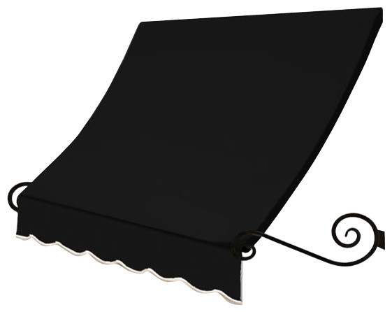 6&x27; Charleston Window Awning, 18 Hx36 D, Black.