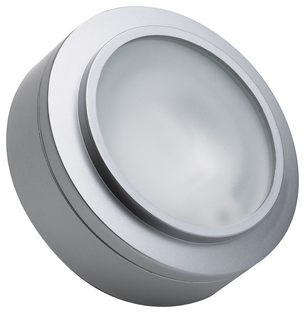 Undercabinet Lighting Alico Xenon Puck Light In Stainless Steel With Lamp Mz401 5 16