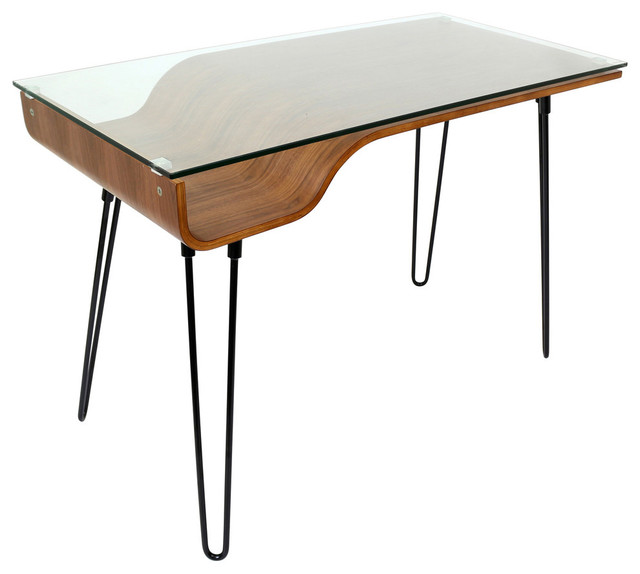 Lumisource Avery Desk, Walnut