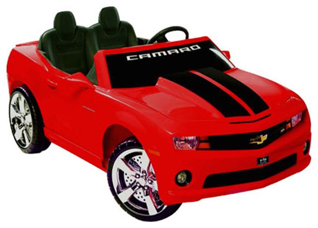 npl kids play vehicles chevrolet racing camaro 12v car red modern kids toys