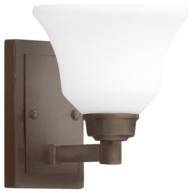 Wall Sconces Transitional : Brushed Nickel Wall Sconce 1-Light - Transitional - Wall Sconces - by EliteFixtures