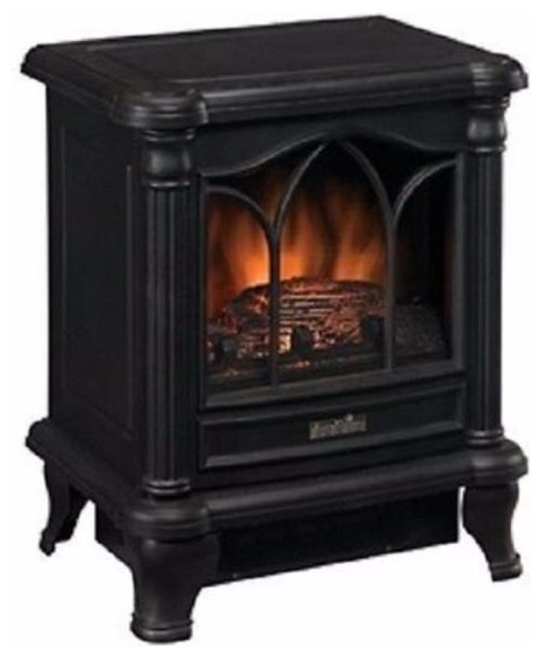 Black Freestanding Electric Stove Style Fireplace Space Heater.