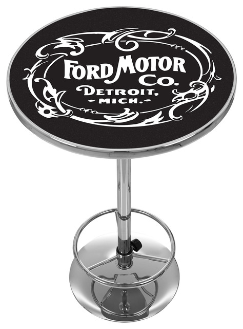 Vintage 1903 Ford Motor Co. Chrome Pub Table.