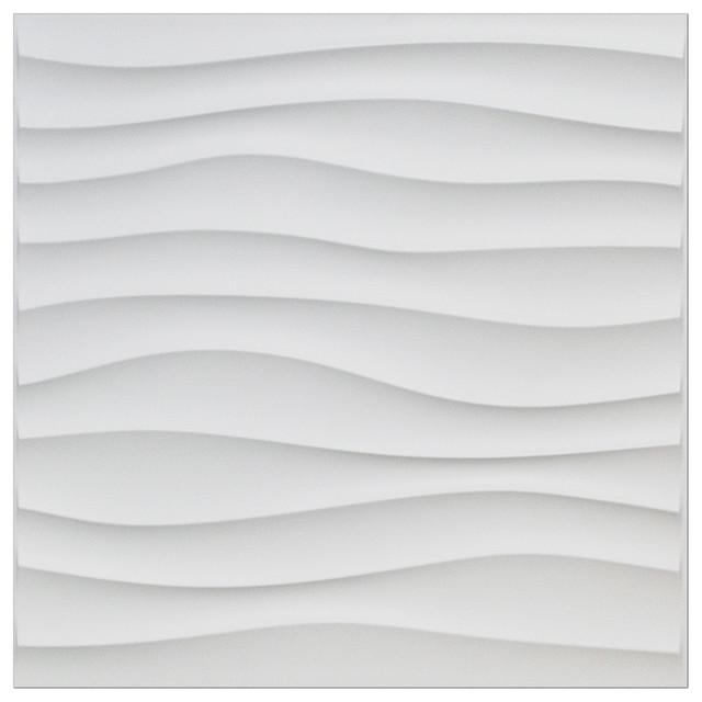 19 7 Quot X 19 7 Quot Art3d Plastic 3d Wall Panel Pvc Wave Wall