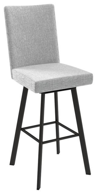 Brilliant Elmira Swivel Stool Base Textured Dark Brown Counter Seat Soft Gray White Ncnpc Chair Design For Home Ncnpcorg