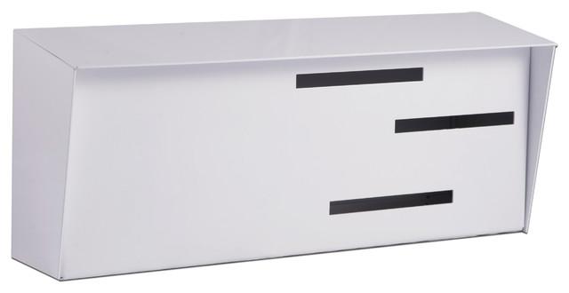 Mid Century Modern Mailbox White