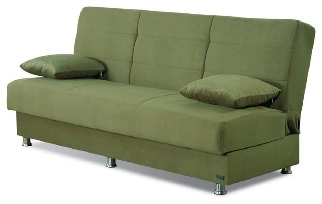 Empire Furniture USA Atlanta Armless Modern Convertible Sofa Bed ...