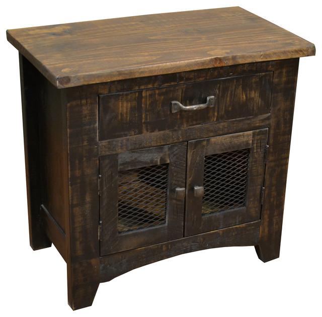 Bayshore black nightstand rustic nightstands and for Tall rustic nightstands