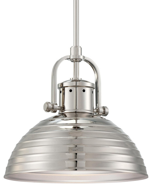 Signature 1-Light Pendants, Polished Nickel.