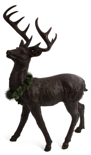Beautiful Standing Reindeer Sculpture Eclectic