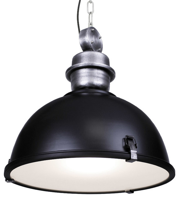 Black Industrial Light Part - 33: Large Industrial Warehouse Pendant Light, Black Industrial-pendant-lighting