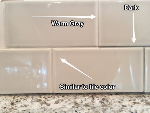 Backsplash tile grout color Different design and colors of tiles