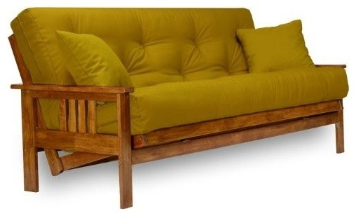 Standard Futon Frame Solid Wood Easily Converts Into A Sofa Lounger Or Bed