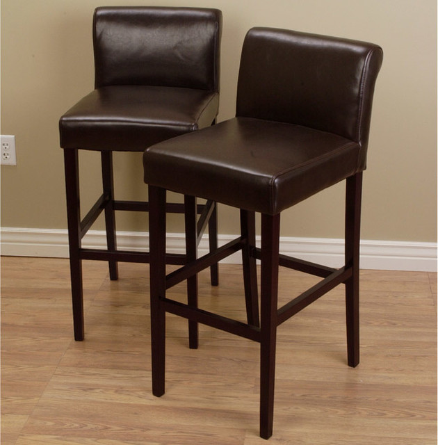 Swell Brown Leather Kitchen Bar Stools Cjindustries Chair Design For Home Cjindustriesco