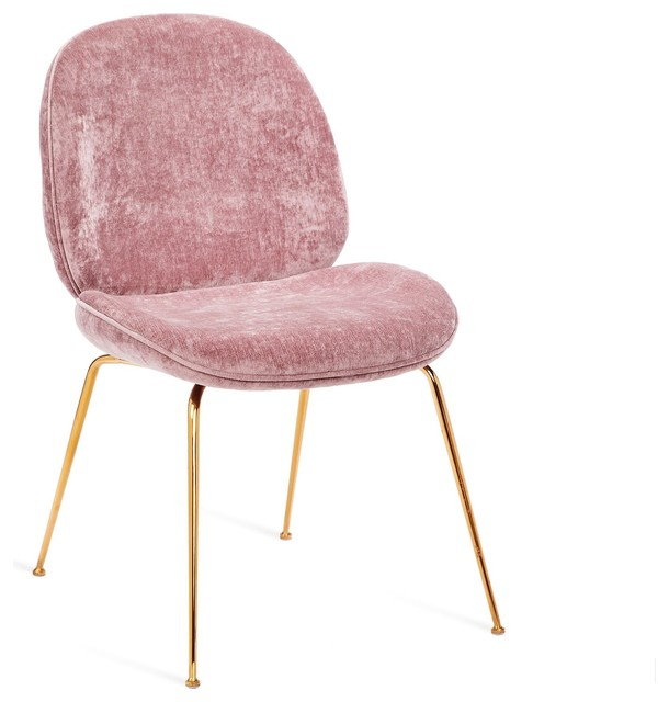 Luna Dining Chair in Violet in Rose