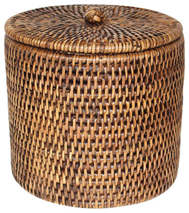 Rattan Toilet Paper Holder Basket
