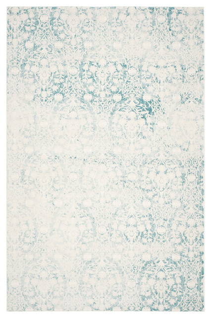 Safavieh Passion Woven Rug, Turquoise/ivory, 9&x27;x12&x27;.