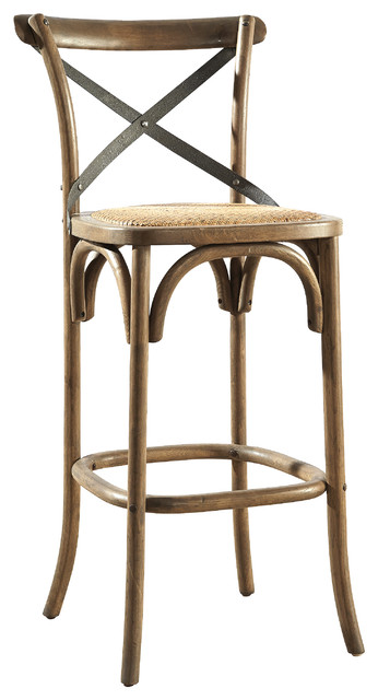 Groovy Bentwood Bar Stool W Metal Back Squirreltailoven Fun Painted Chair Ideas Images Squirreltailovenorg