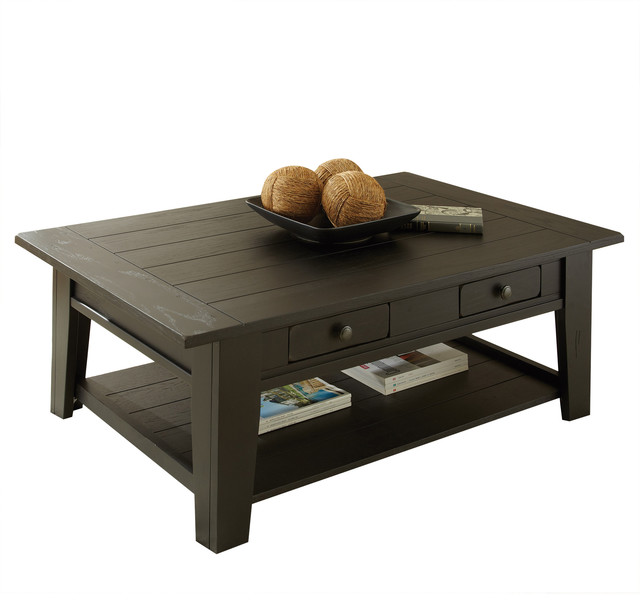 black coffee table transitional - photo #11