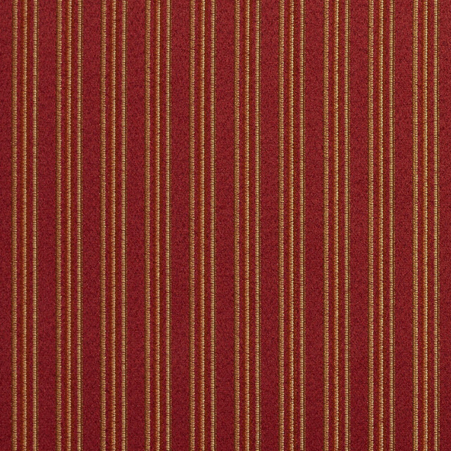 Striped Red Gold And Green Damask Upholstery And Drapery Fabric By