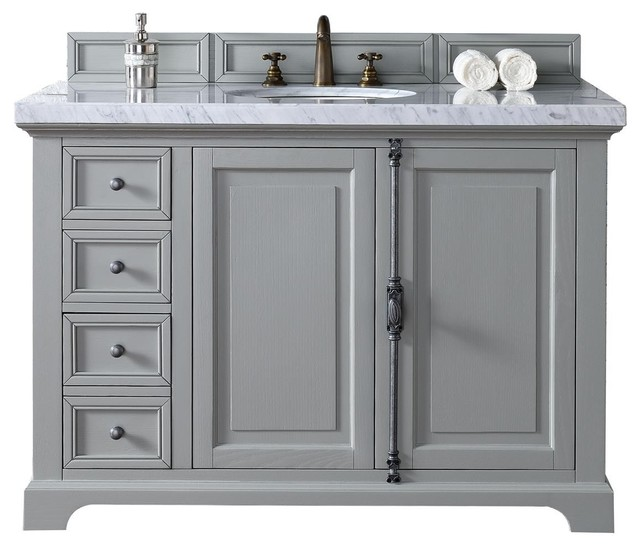 Providence 48 Urban Gray Single Vanity Transitional Bathroom Vanities And Sink Consoles