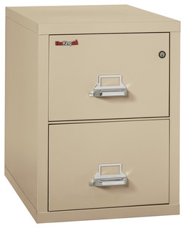 Fireking Fireproof Vertical File Cabinet, 2 Legal Sized Drawers - Contemporary - Filing Cabinets ...