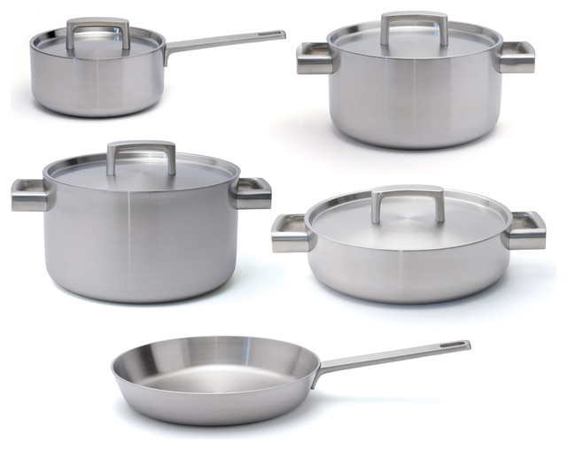 Ron 5-Ply 9 Piece Cookware Set.