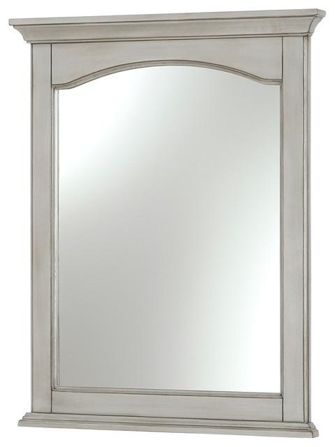 Corsicana 24 Antique Style Mirror Gray Transitional Bathroom Mirrors