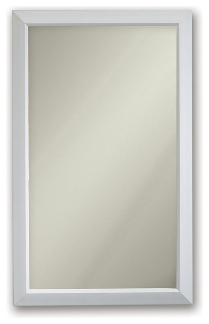 "Hampton 15 3/4"" X 25 1/2"" Recess Mount White Medicine Cabinet."