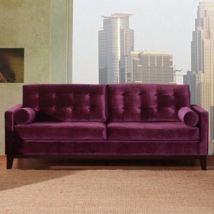 Centennial Sofa Purple Velvet