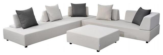 Denver 9 Piece Modern Modular Set Cream, Outdoor Patio Furniture Denver